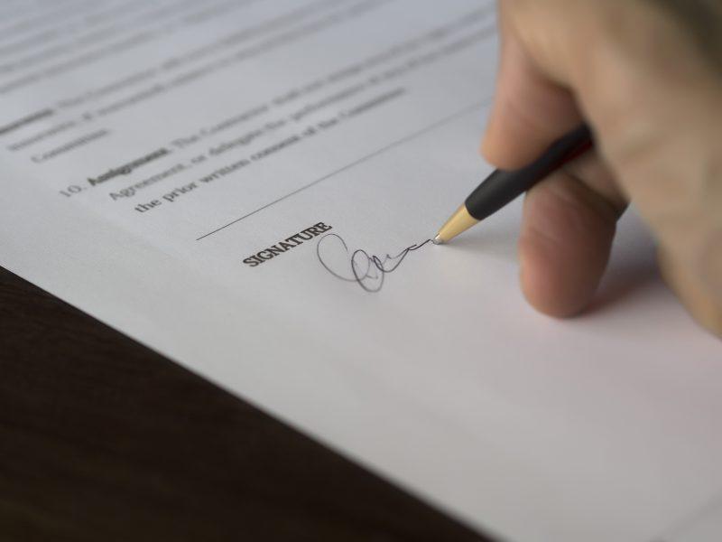 Handtekening verzekering